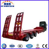 Eje 4 camas bajas Semi-Trailer/70 toneladas de carga útil Lowbeds Trailer