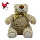 Logo mignon bon marché marqué grand jouet promotionnel d'ours de nounours de peluche