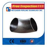 La curva de acero al carbono Lr Sch 40 con la costura
