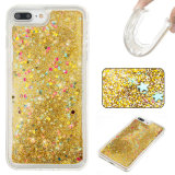 Caixa de flutuação líquida do telefone do Quicksand TPU do Glitter para iPhone7 7plus