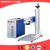 De roterende Machine van de Teller van de Laser van de Markering van de Hond van het Metaal van de Laser van de Vezel van de Kwaliteit 20W
