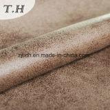 Tessuto competitivo della pelle scamosciata di Farbic del cuoio della copia del tessuto della mobilia