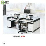 현대 모듈 열려있는 나무로 되는 사무실 워크 스테이션 Yf-G1803