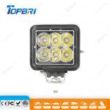 lámpara del trabajo del CREE LED de 3inch 18W para la iluminación auxiliar de Folklift