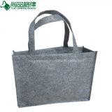 Umweltfreundlicher kundenspezifischer Grau-Filz-Einkaufentote-Beutel-Filz-Handbeutel