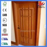 Porte en bois solide de dispositif trembleur moulée par HDF de matériau de construction (JHK-011)