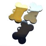 Logo personnalisé vide Dog Tag Sublimation de métal blanc Dog Tag