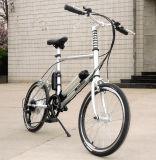 طريق [أن/وفّ] درّاجة كهربائيّة مع أماميّ سلّة وسط بطارية
