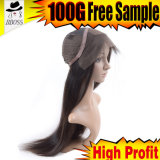 Pelucas de seda del cordón del pelo humano del 100% no para las mujeres