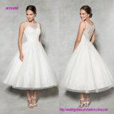Украшенное шнурком платье венчания Ча-Длины Neckline иллюзиона