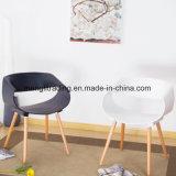 플라스틱 시트 나무다리 둥근 현대 디자인 나른하은 가구 의자