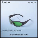 630 - 660nm O. D2+ & 800 - 1100nm O. D5+ Óculos de protecção ocular de Laserpair