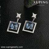Swarovskiの卸し売り方法合金の宝石類のイヤリングからのXupingの方法水低下の形の水晶