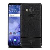 HTC U11のための無光沢の柔らかい革TPU電話箱と