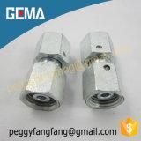 adaptadores de câmara de ar 3c/3D retos com encaixe de tubulação ajustável hidráulico do adaptador da porca do giro