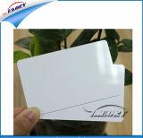 Cartão do PVC, cartão branco em branco do PVC, cartão plástico