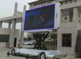 持ち上がるスクリーンが付いているトレーラーを広告するP8 P10 HD屋外LED