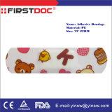 bandages adhésifs imperméables à l'eau d'ours de dessin animé de PE de 72X19mm
