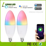 5W E12 Smart LED Light Bulb RGB+2700K Warm White WiFi Light Bulb