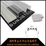 Canal de aluminio montado techo del LED con los casquillos de extremo