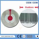 8.2MHz 40mm de dia Soft RF étiquette ronde