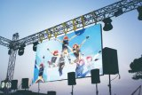 Affichage LED de location de plein air P5.95 1r1g1b souple option incurvée de bord