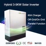 invertitore ibrido solare puro dell'onda di seno 3-5kw con il regolatore solare del caricatore di MPPT