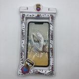 Großhandelskarikatur-aufblasbarer sich hin- und herbewegender wasserdichter Telefon-Beutel für iPhone Qualitäts-beständigen wasserdichten Telefon-allgemeinhinbeutel für Handy