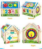 Casa de madeira brinquedo multifuncional