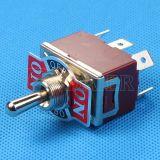 金属6 Pin 15A PCB Dpdtのトグルスイッチで