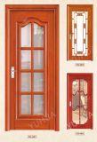 Portello di legno di studio interno semplice di stile con vetro Tempered (YH-6011)