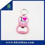 Ring van de Ketting Keychain van Keychain van het Silicone van de Douane van de bevordering de Rubber Zeer belangrijke