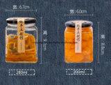 Jarra de vidro quadrado Chutney de vidro, Feijão fermentadas Requeijão misturador