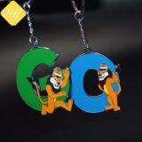 Los proveedores de China buena calidad regalo Souvenir Customzied Llavero de metal de la moda de dibujos animados