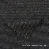 높은 뻗기 땀 흡수 스판덱스 혼합 검정 줄무늬 직물