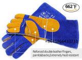 溶接の労働作業のための二重やし革働く手袋