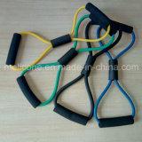 100% Tórax Látex Pressione 8 faixa de resistência em forma de ioga Pilates Ginásio em casa