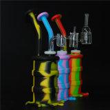 Los colores del fabricante de silicona FDA Pulpo fumar DAB Rig tubo con el cuarzo Banger de distribución