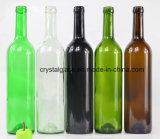 Klassische Form-Rotwein-Glasflasche 750ml