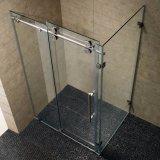 La forme en diamant de haute qualité salle de douche en verre trempé clair douche