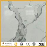 De stevige Steen van het Kwarts van het Bouwmateriaal van de Oppervlakte Kunstmatige met SGS Normen (Calacatta)