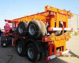 2 EIXOS 40pés Semitrailer esqueleto para o transporte de contentores