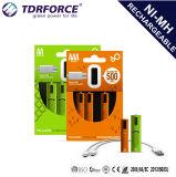 Batterie 450mAh della batteria ricaricabile del USB 1.2V AAA