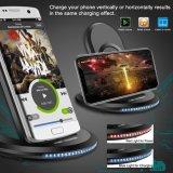China Proveedor Universal 5V 2Un adaptador inalámbrico de telefonía celular móvil Soporte Rápido Qi Wireless Cargador para Samsung