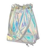 Glänzendes modernes Hologrammganz eigenhändig geschrieber Tote-Beutel PU-Handtaschen-Schulter-Beutel