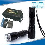 10W de haute qualité forte lumière Lampe torche à LED en alliage aluminium &Lampe torche rechargeable
