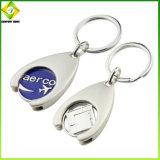 Venda por grosso de metais personalizados barata Logotipo Alfabeto Keyring
