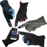 Hete Verkoop die de Polaire Handschoenen van de Winter van Telefingers van het Scherm van de Aanraking van de Vacht drijven