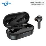 Verdade Viva-voz móvel Wireless Bluetooth Headset estéreo dinâmicos fones de ouvido intra-auriculares