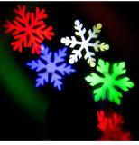Im Freiengarten-Lichter, die LED-Schneeflocke-wasserdichtes Laserlicht verschieben